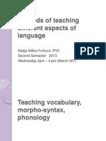 Vocabulary, Grammar...