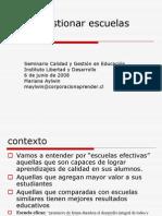 Escuelas Efectivas Mariana-Aylwin