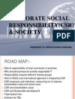 Corporate Social Responsibility(Csr) & Society