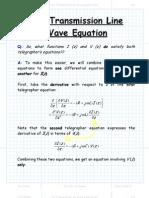 The Transmission Line Wave Equation