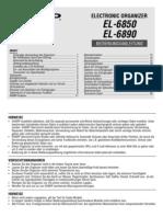 SHARP EL-6850 Bedienungsanleitung