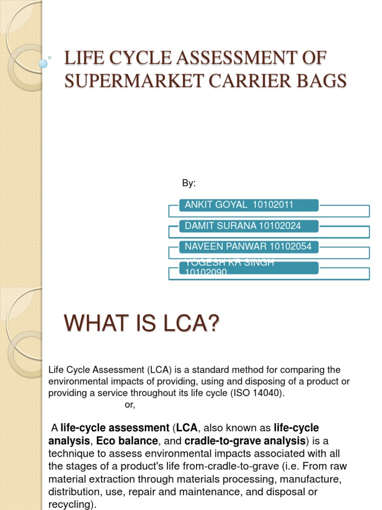 Lca | Life Cycle Assessment | Human Impact On The Environment