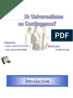 GRH Contingence Ou Universalisme