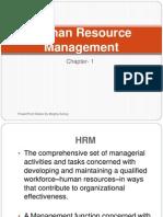 Human Resource Managment ( Chapter 1)