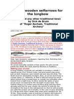 Making Wooden Selfarrows for the Longbow