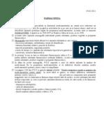 Curs 3 Farmacologie