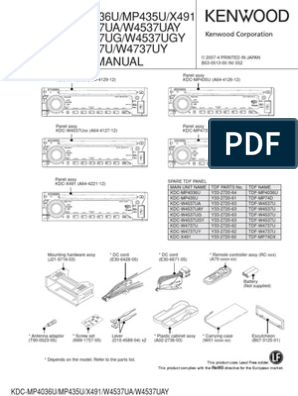 on kenwood car stereo wiring diagrams kdc x491
