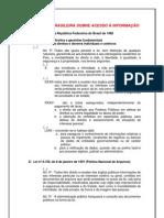 Legislação brasileira sobre acesso à informação