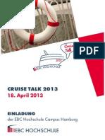 Cruise Talk 2013 - Einladung Der EBC Hochschule-1