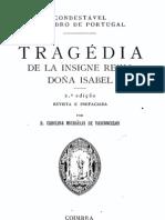 Tragédia de la insigne reina Doña Isabel