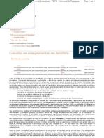 Evaluation Des Enseignements Et Des Formations