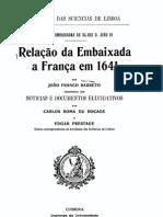 Relação da embaixada a França em 1641