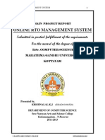 ONLINE  RTO  MANAGEMENT SYSTEM