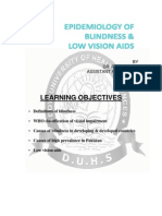 Epidemiology of Blindnesss and Low Vision Aids