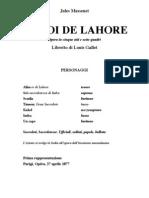 Massenet Le Roi Lahore