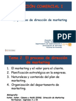 EL PROCESO DE DIRECCIÓN DEL MARKETING