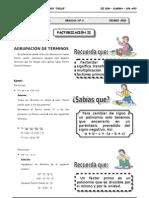 III BIM - 1ero. Año - Guía 6 - Factorización II