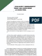 Claudia Vanney - Epigénesis, evolución y ordenamiento del cosmos. Una visión desde la causa final.pdf