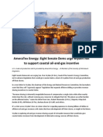 AmeraTex Energy Eight Senate Dems Urge Wyden Not to Support Coastal Oil-And-gas Incentive