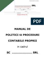 Manual politici si proceduri contabile sc...Srl Schita