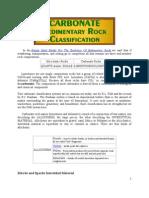Classification Carbonate Sedimentary Rock