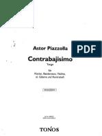Contrabajisimo (Piano, Bandoneon, Violin, Guitarra Electrica, Contrabajo)