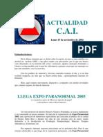 [AFR] Actualidad CAI 2