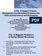 Solutions to 13 Biggest Problems