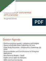 Evolution of Enterprise Applications-SaaS