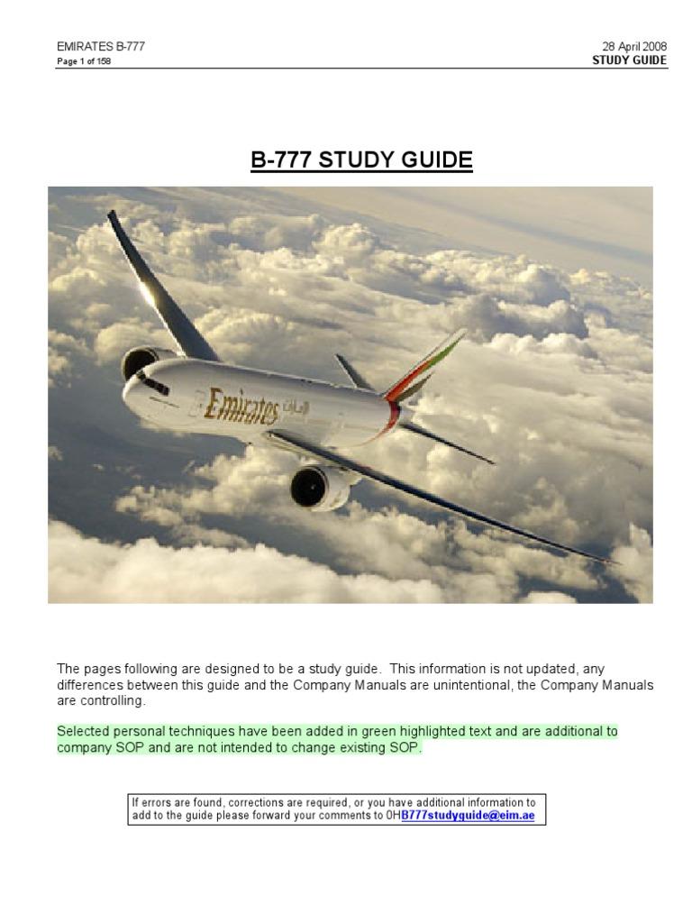 B777 Study Guide Emirates Landing Gear