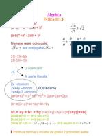 Algebra Formule