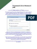Instalar .NET Framework 3.5 en Windows 8 Pro via OFFLINE
