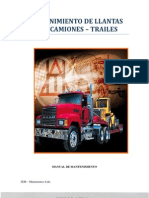 Mantenimiento de Llantas Para Camiones-trailers