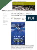 Doutorando da PPGSA lança livro sobre a Acadêmicos do Dendê