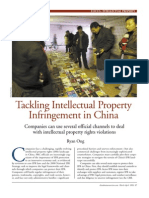 Tackling IP Infringement in China