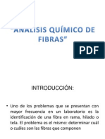 Exposicion Analisis Quimico de Fibras