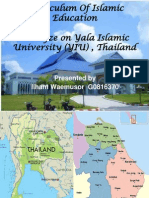 Curriculum of Islamic Education