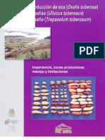 Produccion de Oca, Papalisa e Isano. Importancia, Zonas Productoras, Manejo y Limitaciones