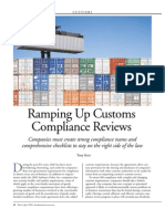 Ramping Up Customs Compliance Reviews