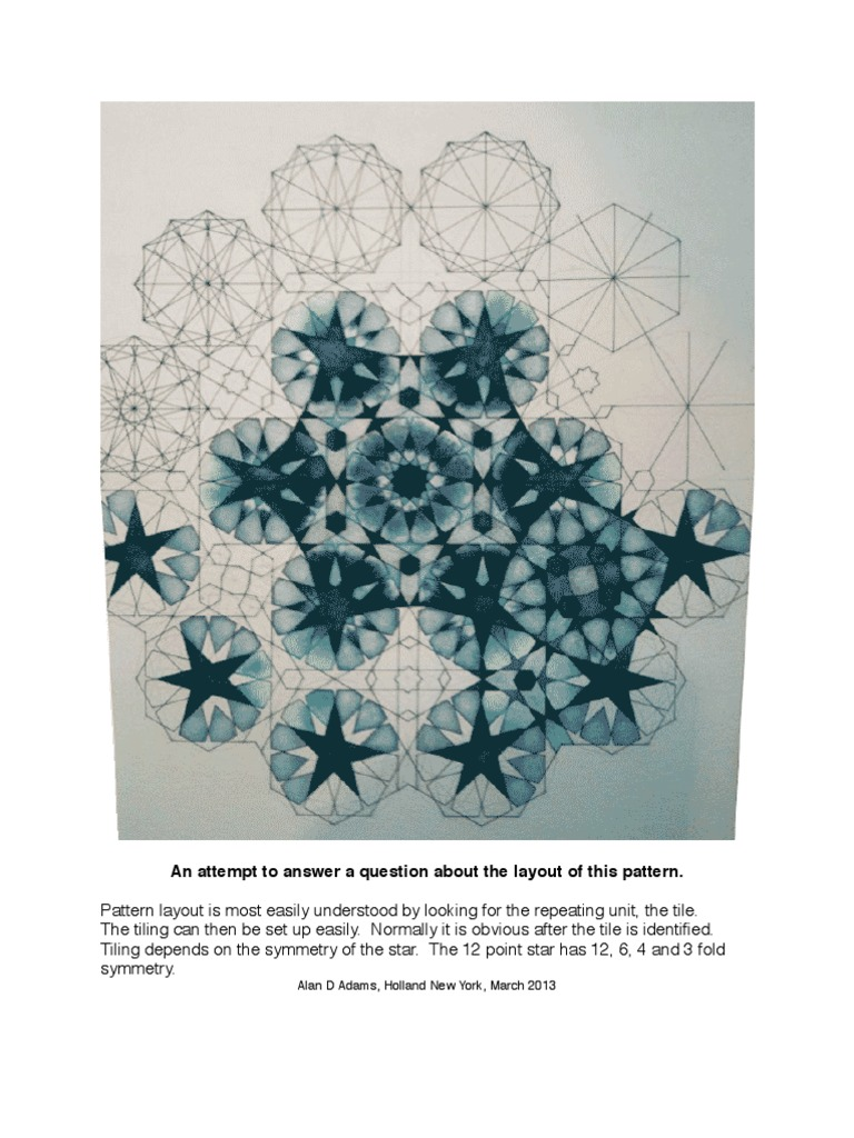 Appendix III: The 12 Point Islamic Star, Hasret Brown\'s Layout ...