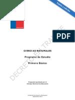 Programa C.N 1°  basico 26-09