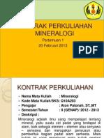pertemuan 1 - mineralogi 2013
