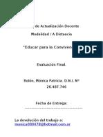 Educar para la Convivencia Actividad de Integración, Evaluacion Final (2)