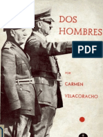 Dos Hombres Mussolini y Hitler. Carmen Velacoracho