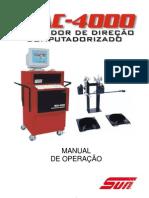 MANUAL- Alinhador de direção computadorizado MAC 4000