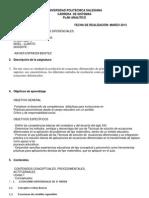 Plan Analitico Ecuaciones Difrenciales Ups Marzo 2013