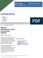 Hijos de funcionarios, en pos de convenios públicos - La Jornada Guerrero
