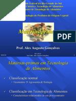 aula 3 matérias primas em tecnologia de alimentos