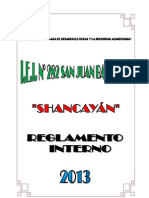 Reglamento Interno 2013 - Institución Educativa Inicial N° 282 - San Juan Bautista - Shancayán