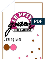 Catering Menu Full